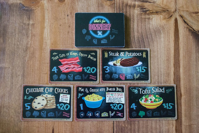 What's for Dinner? Card Game Food Pyramid A La Carte Games