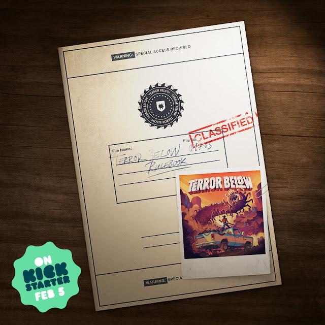 Terror Below Board Game by Renegade Game Studios; rule book image Kickstarter