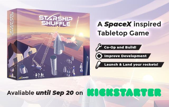 Starship Shuffle – A SpaceX inspired game Kickstarter Spotlight