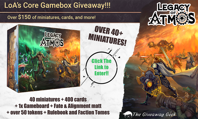 Legacy of Atmos: The Tellus Crusade Giveaway!