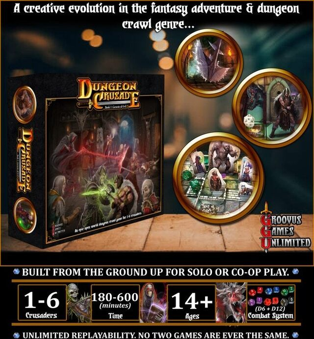Dungeon Crusade (reprint) less than 4 hours to goal!